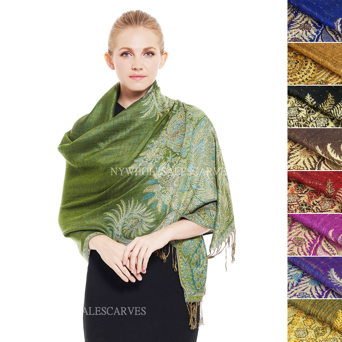 Thicker Pashmina Scarf YZ36S (12 Colors, 1 Doz)