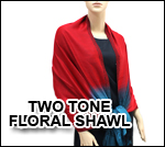 Two Tone Floral Shawl