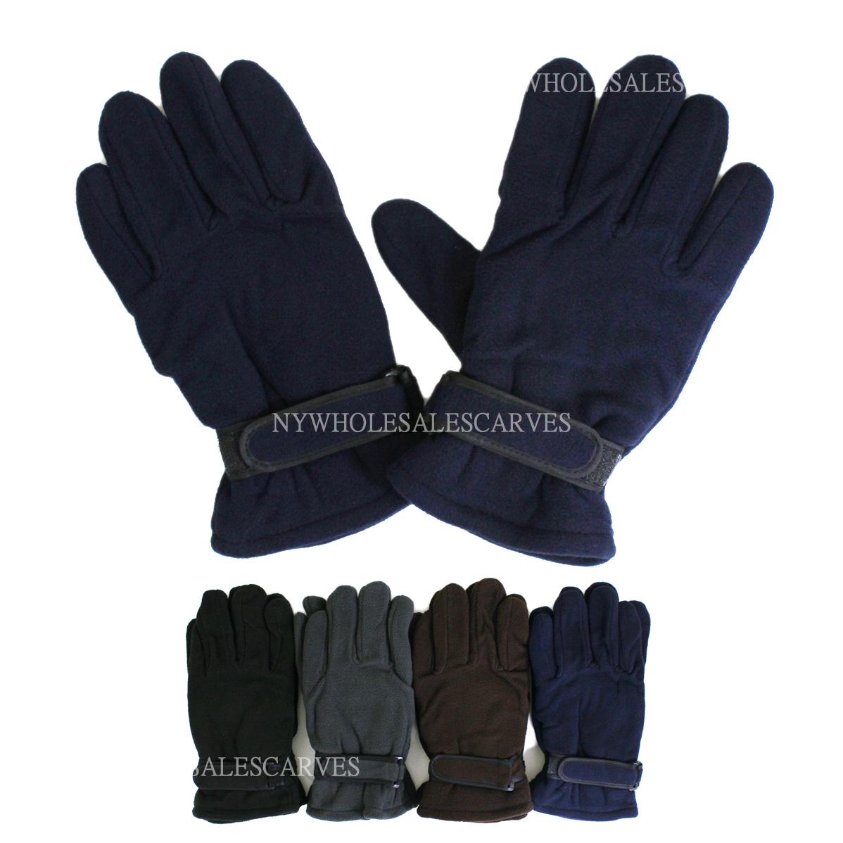 fleece winter gloves s gl01 4 colors 1doz gl01