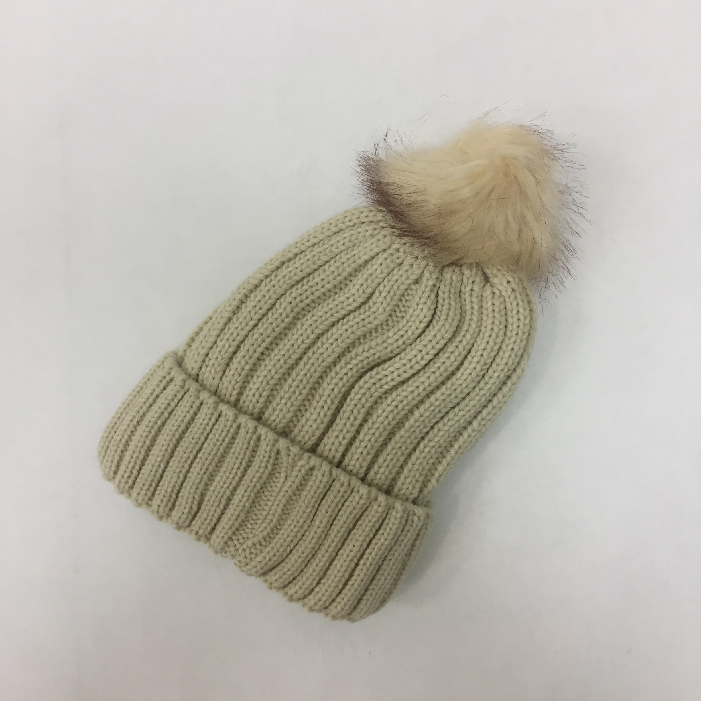 89f0e10988b Thick Cable Knitted Fleece Lined Pom Pom Beanie Hat H53096  H53096 ...