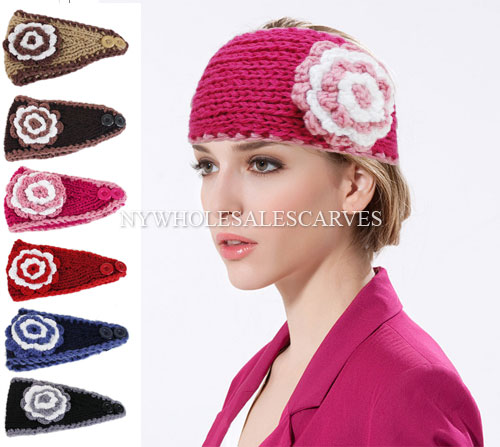 Fashion Crochet Headband #230918 (6 Colors, 1 Doz)