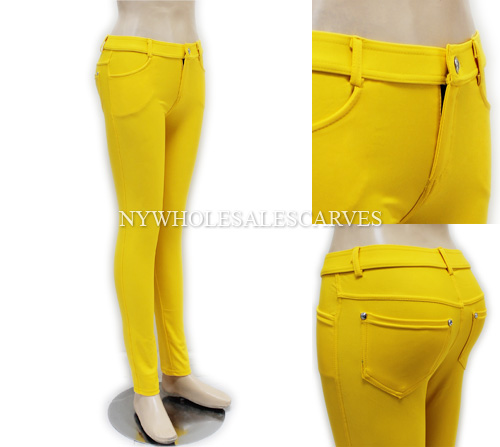Hover to zoom - Solid Color Jeggings XW388 Yellow [XW388] - $6.75 : Wholesale