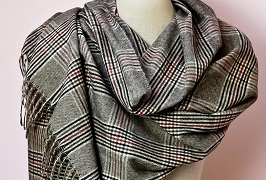 Patterned Cashmere Feel Shawls